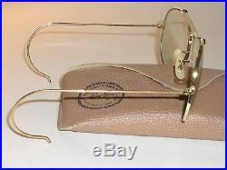 1960s 58-14 Vintage B&L Ray-Ban Gris Photochromique Outdoorsman Aviateur
