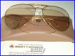 1980s 62-14 Vintage B&L Ray Ban Marron Changeables Outdoorsman Aviateur Lunettes