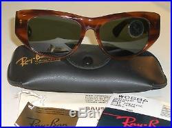 54mm Vintage Bausch & Lomb Ray-Ban W0586 Mock Tortue G15 Dekko