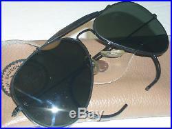 58 14 Vintage B&L Ray-Ban Noir G15 Top Gun Outdoorsman