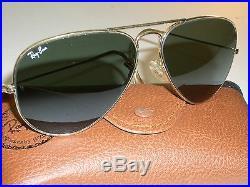 58MM B&L Ray Ban Gp Wraparounds G15 UV Lentille Verre Pilote Aviators Soleil