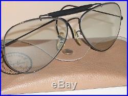 597ms 62 14 Vintage B&L Ray-Ban Photo Gris Changeables Outdoorsman