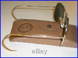 604ms 58 14mm B&L Ray-Ban USA M G15 Plaqué or Câble Aviators Lunettes de Soleil