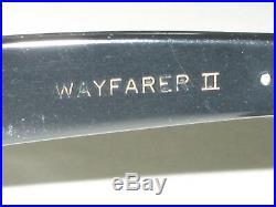 604ms Vintage B&L Ray-Ban Noir/Brun Doré Bordure B15 Wayfarer II Lunettes de