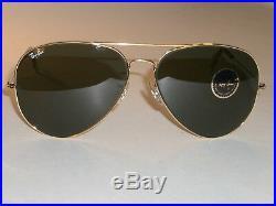 62 14 Vintage B&L Ray-Ban G15 Arista Gp Grand Métaux II Fg