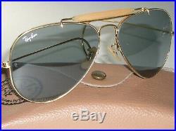 62MM Vintage B&l Ray-ban Gep Bleu Photochromique Outdoorsman Aviateur Lunettes