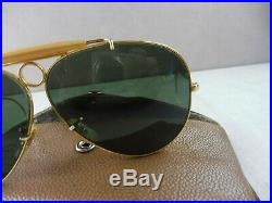 Anciennes lunettes de soleil / Sunglasses, shooter aviator, Ray Ban USA Bausch