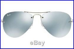 Authentique Ray-ban RB3449 003/30 Soleil Argent / Miroir Vert Neuf 59mm