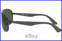 Authentique Ray-ban RB3526 006/71 Soleil Noir Mat / Gris Vert Neuf 63mm
