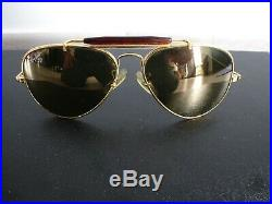 Authentique paire de lunette ray-ban aviator vintage B/L USA plaqué or