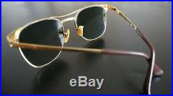 B&L Ray-ban Vintage W0386 Arista 24K Gold 52 19 G15 UV / 1993 / AUTHENTIC+Box