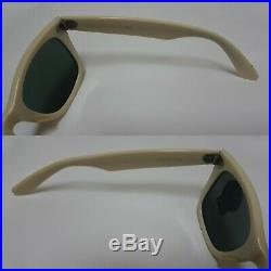 Bausch and Lomb Ray Ban Usa Wayfarer White Ivory 5024 G15 New Old Stock