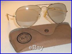 Circa 1960's Vintage B&L Ray Ban Photochromatiques UV Arista Gp Soleil Aviateur