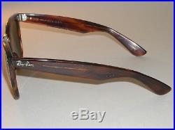 Circa Année 1980 Vintage B&L Ray-Ban L1725 Ouas Mock Tort G15 Wayfarer II