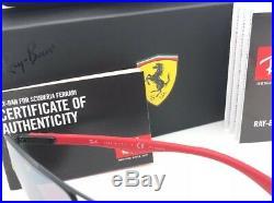 Ferrari Ray-Ban Lunettes de Soleil RB 8313-M F002/H2 Noir Red-Carbon Fibre With