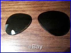 Lentilles en verre minéral de 62mm Ray-Ban Bausch & Lomb G15 année 1950-1960