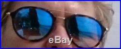 Lunette de soleil ray ban reflets bleuté R84253 53 bleu miroir quasi neuves