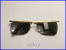 Lunettes De Soleil Ray Ban B&L Signet DLX Bausch Lomb Deluxe Vintage Doree NOS