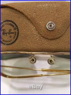 Lunettes De Soleil Vintage Ray Ban B&L Bausch Lomb Rare Caravan USA 70 Étui Cuir