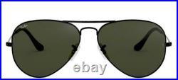 Lunettes de Soleil Ray-Ban AVIATOR RB 3025 Black/G-15 58/14/135 unisexe