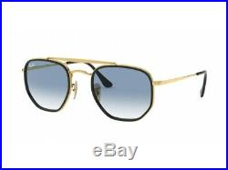 Lunettes de Soleil Ray-Ban RB3648M Marshall or Bleu Degrade 91673F Originales