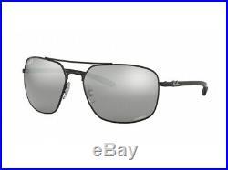 Lunettes de Soleil Ray-Ban RB8322CH Miroir Noir Gris Polarisé 002/5L