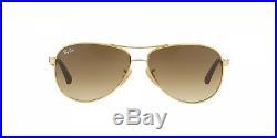Lunettes de Soleil Ray-ban Carbon Fibre RB8313 001/51 58 Nouveau Original