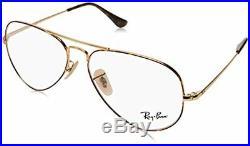 Lunettes de Vista Ray-Ban RX6489 Aviateur 2945 Gold Top A Enfiler Havane Cal. 58