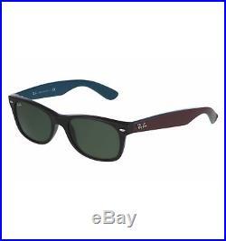 Lunettes de soleil Ray-Ban NEW WAYFARER Noir Bleu et Brun RB2132 RB2132  6182 52 6640ba477597