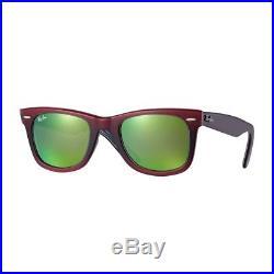 Lunettes de soleil Ray-Ban Original Wayfarer Pixel Rouge Marron Verre Vert Fl