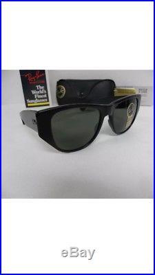New Vintage B&L Ray Ban Caballero Ebony W1013 Wayfarer Set 54mm Sunglasses USA