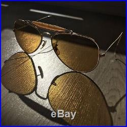 RAY-BAN Aviator B&L Vintage OUTDOORSMAN SHOOTER 58 14mm