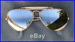 RAY BAN BAUSCH & LOMB AVIATOR VINTAGE verres miroir gravés en haut! 58 mm