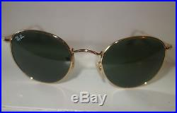 RAY-BAN RB3447 001 Rond LENNON Cadre Or, verre vert G-15 50 mm NEUF