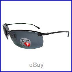 RAYBAN LUNETTES DE SOLEIL HAUT BARRE 3183 NOIR BRILLANT polarisé gris 002 81 2a31b06bf2ec