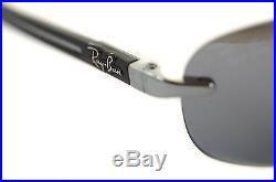 RAYBAN TECH fibre de carbone polarisé 8303 004/82 gris métal noir