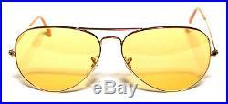 Ray Ban 3025 58 Aviateur or or Jaune Jaune Ambermatic Personalisé Remix