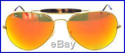 Ray Ban 3029 62 de plein Air II or Havana Objectif Orange Miroir Remix Miroir