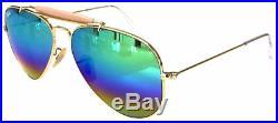 Ray Ban 3407 58 De Plein Air Or Or Remix C3 Gris Clair Rainbow Customized