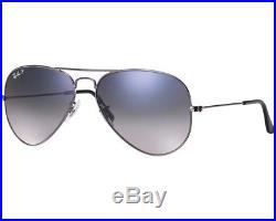 Ray-Ban Aviator Large II Gunmetal Bleu Dégradé Polarisé RB3025 004/78 62