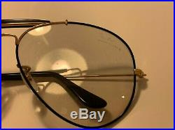 Ray Ban Bauch Lomb Frames USA pilot aviator model prescription wings vintage