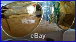 Ray Ban Bausch&Lomb Aviator classic 6214 vintage sunglasses ambermatic lenses