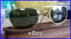 Ray Ban Bausch&Lomb Deco Metal Square W1533, arista gold G15 BL vgood condition
