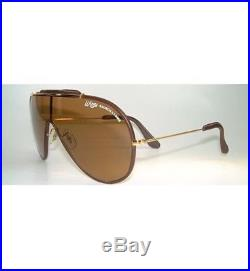 Ray Ban Bausch Lomb Wings Leathers Arista Brown Lens L1631 Extremely Rare