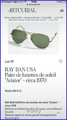 Ray Ban Circa Usa 1970