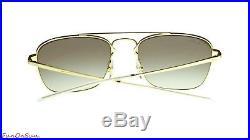 Ray Ban Hommes Lunettes de Soleil RB3588 905513 or Marron / Verre Brun Dégradé
