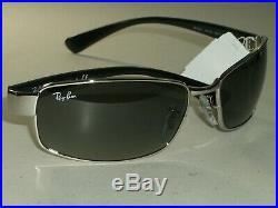 Ray-Ban Italie Rb3364 62 17 Chrome/Noir Pente Lunettes de Soleil Rectangulaires