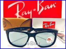 Ray-Ban Justin Lunettes de Soleil RB4165 622/2V Caoutchouc Noir Bleu Foncé