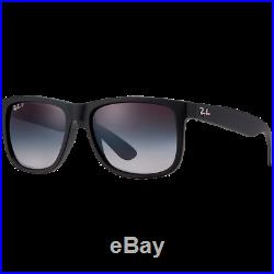 Ray-Ban Justin Rubber Black Gris Dégradé Polarisé RB4165 622/T3 55