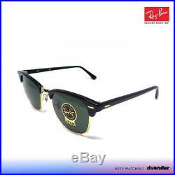 4d494409191145 Ray Ban Lunettes De Soleil Sunglasses 0rb3016 W0365 Clubmaster Ebony  Arista